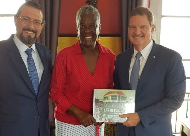 Maria Liberia-Peters invitado di honor na encuentro Voluntarionan 2019 di partido AVP